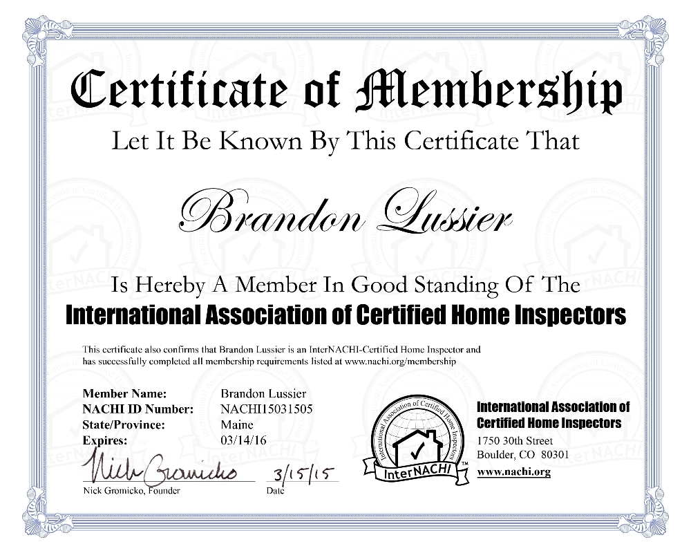 The lussier team home inspection training and certification internachi how to inspect fireplaces stoves and chimneys course certificate of completion xflitez Images